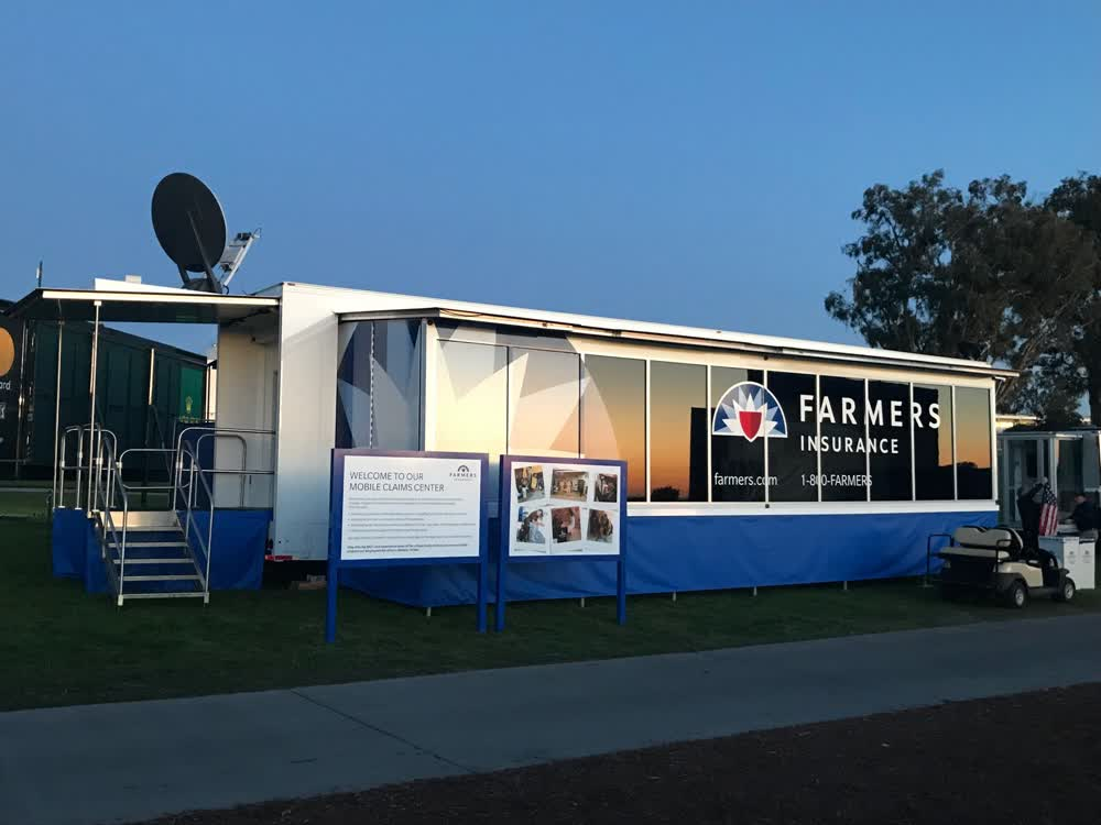 farmers insurance double expandable trailer