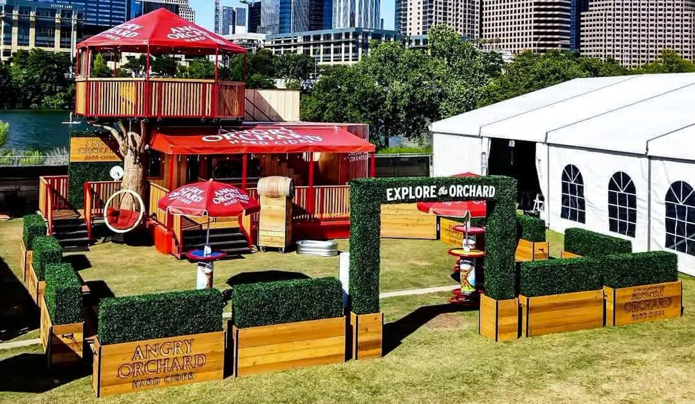angry orchard event promotional vehicles trailers