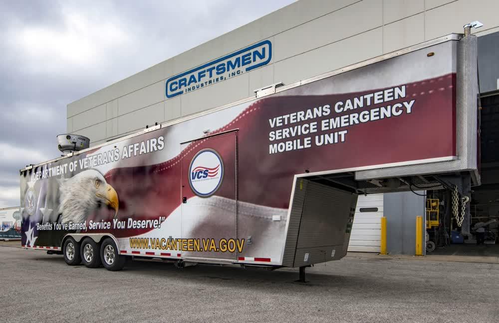 veterans canteen commercial mobile kitchen trailer truck