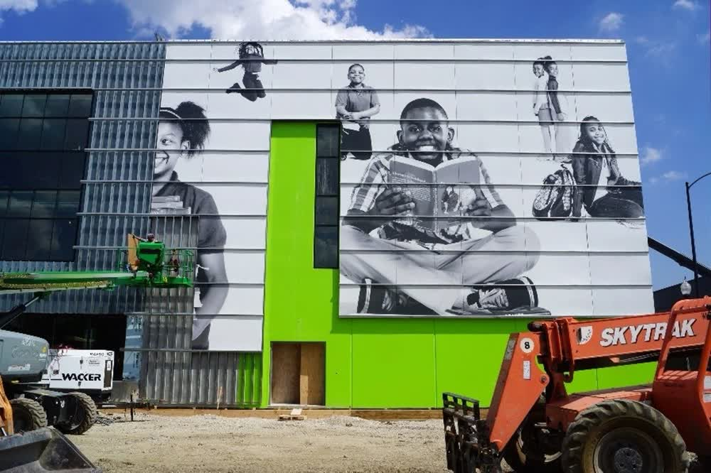 chicago charter school building wraps