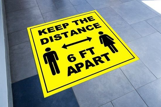floor graphics covid safety graphics