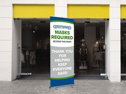 storefront masks required covid safety graphics
