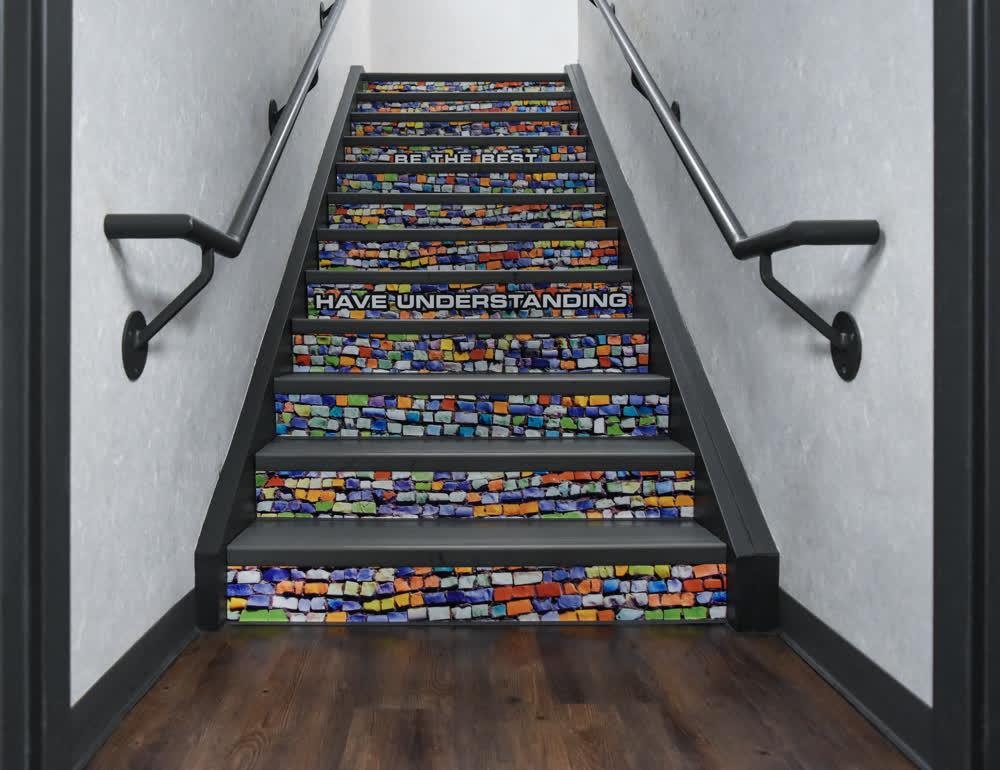 stairwell floor graphics