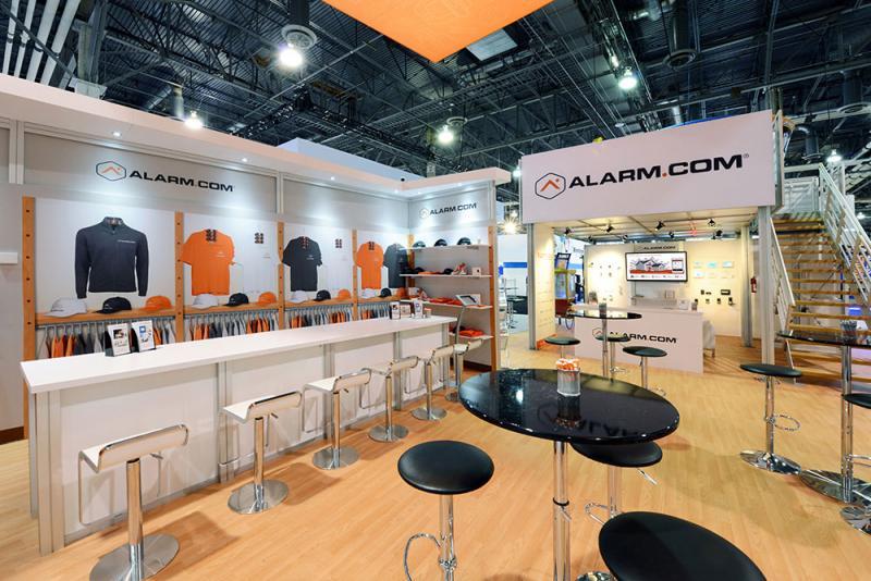 alarm.com trade show displays