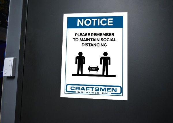 social distancing wall sign