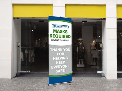 masks required banner sign